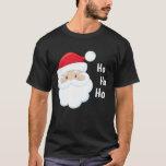 Ho Ho Ho Santa Face Christmas Holidays Red White T-Shirt