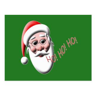 Ho!Ho!Ho! Santa Green Christmas Postcards