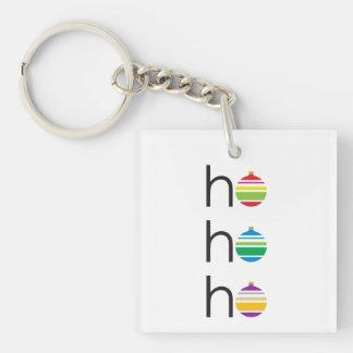 """""""ho ho ho"""" Santa Greeting Holiday Christmas Keychain"""