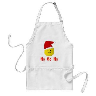 Ho Ho Ho Santa Minifig Head Adult Apron