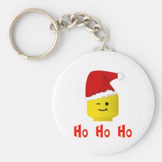 Ho Ho Ho Santa Minifig Head Keychain