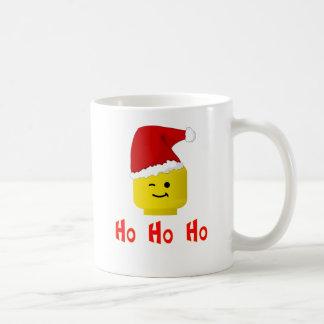 Ho Ho Ho Santa Minifig Head Basic White Mug