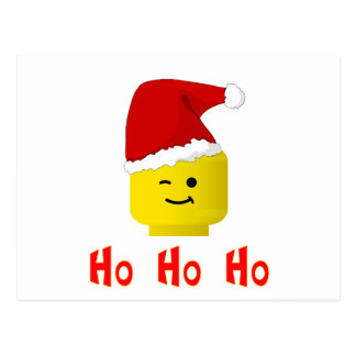 Ho Ho Ho Santa Minifig Head Postcard