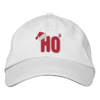 Ho Ho Ho Santa Nerd Embroidered Baseball Cap
