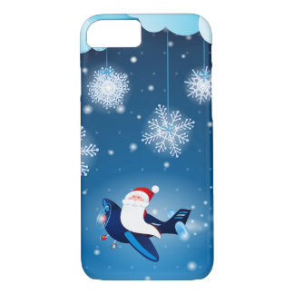 Ho ho ho! Santa on the airplane, iPhone 7 case