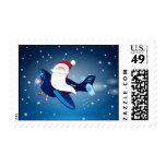 Ho ho ho! Santa on the airplane, postage
