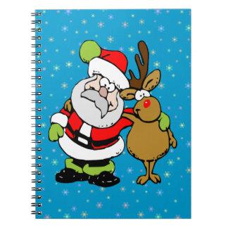 ho-ho-ho Santa Rudy Spiral Note Books