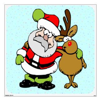 ho-ho-ho Santa & Rudy Wall Sticker