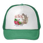 Ho Ho Ho Santa Sleigh and Reindeer Hats