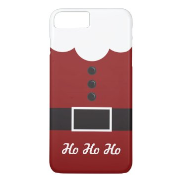 Christmas Themed Ho Ho Ho Santa Suit Christmas iPhone 7 Plus case