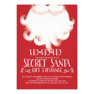 HO HO HO Secret Santa Christmas Party 5x7 Paper Invitation Card