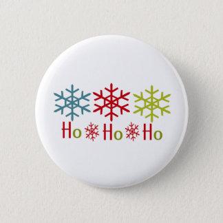 Ho Ho Ho Snowflake Christmas Pinback Button