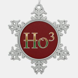 Ho ho ho? snowflake pewter christmas ornament