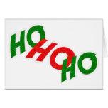 Ho Ho Ho tarjeta de felicitación
