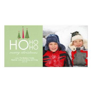 Ho Ho Ho tarjeta de la foto de las Felices Navidad Tarjeta Fotografica Personalizada