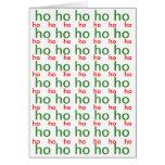 Ho-Ho-Ho tarjeta de Navidad