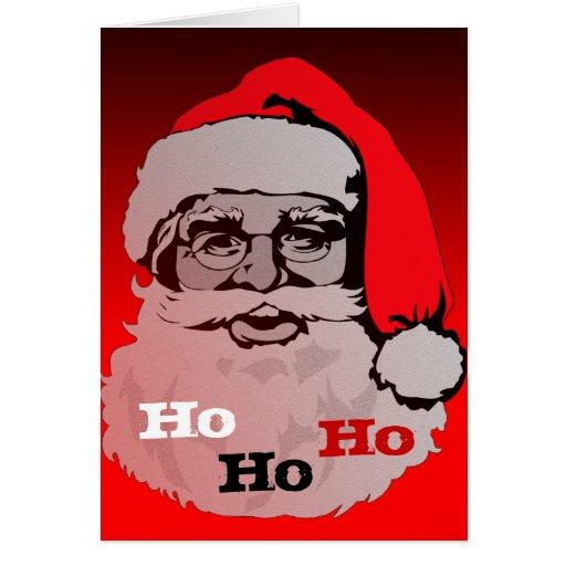 Ho Ho Ho tarjeta de Navidad de Papá Noel