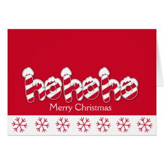 Ho Ho Ho tarjeta de Navidad del día de fiesta del