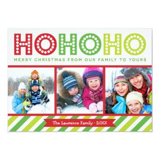"""Ho Ho Ho tarjeta moderna del día de fiesta del Invitación 5"""" X 7"""""""