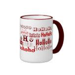 Ho Ho Ho taza (roja) del día de fiesta