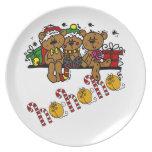 Ho Ho Ho Teddy Bears Party Plates