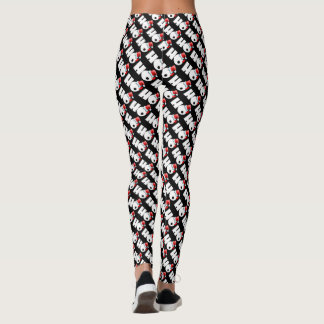"Ho Ho Ho ""These Are My Santa Pants"" Pattern Leggings"