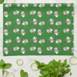 ¡Ho! ¡Ho! ¡Ho! Toalla de cocina verde del navidad