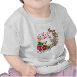 Ho Ho Ho trineo y reno de Santa Camiseta