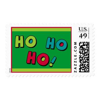 ¡Ho Ho Ho! Un sello del navidad de Santa del perso