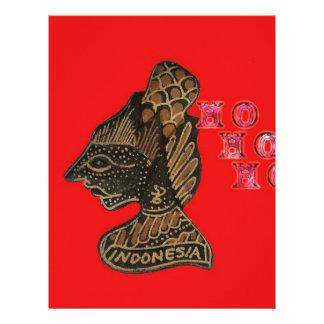 ¡Ho Ho Ho! Vin retro lindo de Indonesia de las Fel Plantillas De Membrete