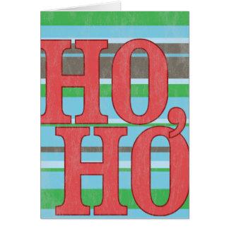 Ho, Ho, Ho. Vintage Christmas Card