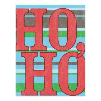 Ho, Ho, Ho. Vintage Christmas Postcard