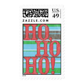 Ho, Ho, Ho. Vintage Christmas Stamp