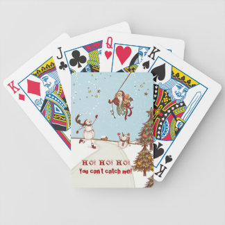 HO! HO! HO! You can't catch me! Bicycle Playing Cards