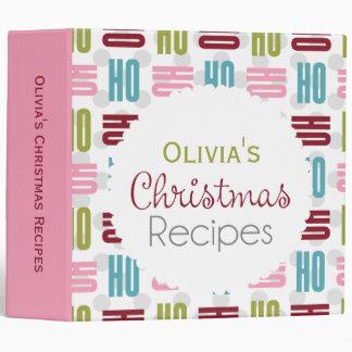 Ho Ho Holiday Recipe Binder