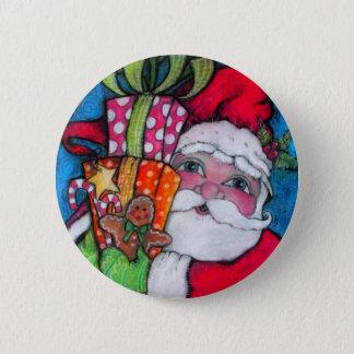 Ho Ho Holiday Santa Button