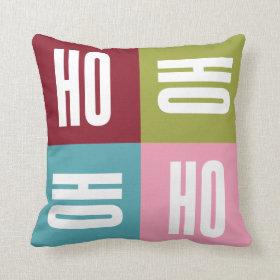 Ho Ho Holiday Throw Pillow