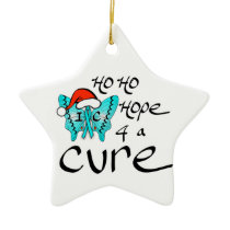 Ho Ho Hope 4 a Cure to IC Ceramic Ornament