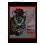 Ho Ho Hum Cat Greeting Card