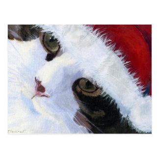 Ho Ho Kitty Cat Post Card