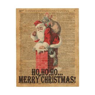 Ho,Ho Merry Chirstmas Santa Claus Dictitionary Art