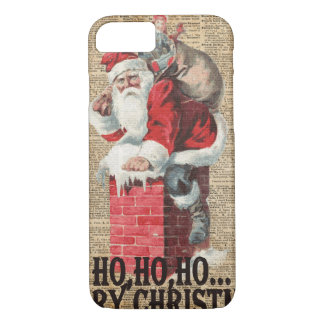 Ho,Ho Merry Chirstmas Santa Claus Dictitionary Art iPhone 7 Case