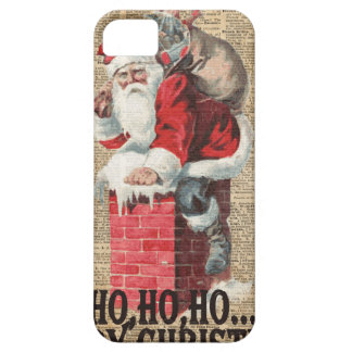 Ho,Ho Merry Chirstmas Santa Claus Dictitionary Art iPhone SE/5/5s Case