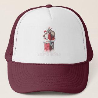 Ho,Ho Merry Chirstmas Santa Claus Dictitionary Art Trucker Hat