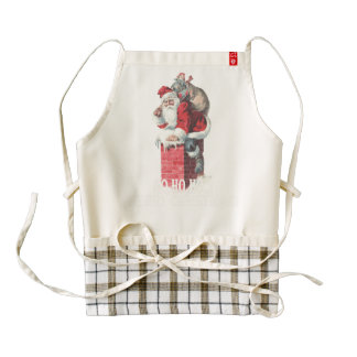Ho,Ho Merry Chirstmas Santa Claus Dictitionary Art Zazzle HEART Apron