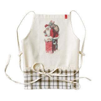 Ho,Ho Merry Chirstmas Santa Claus Dictitionary Art Zazzle HEART Apron