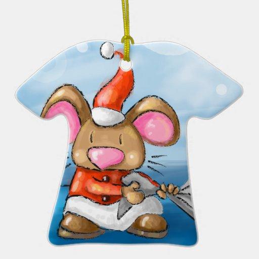 ho ho merry christmas mouse Double-Sided T-Shirt ceramic christmas ornament