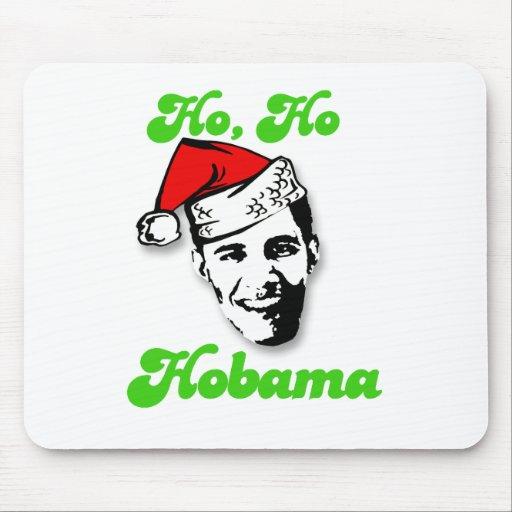 Ho, Ho, Obama Mouse Pads