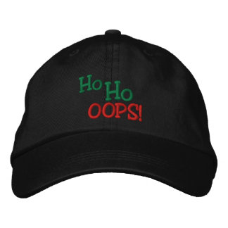 Ho Ho OOPS! Embroidery Embroidered Hat