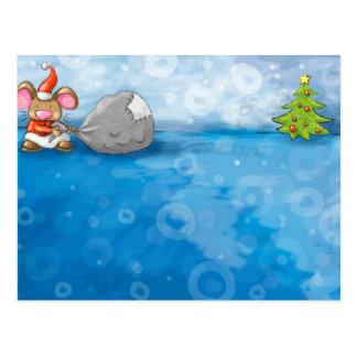 ho ho ratón de las Felices Navidad Tarjetas Postales